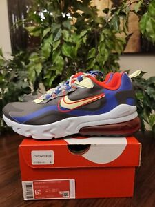 NIKE AIR MAX 270 REACT (GS) SNEAKERS CT1630-001 GRAY SIZE 6.5Y