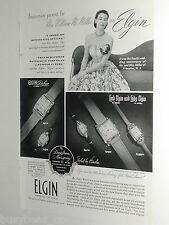 1949 Elgin Watch ad, Wristwatch, anniversary present