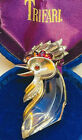 Iconic Trifari Alfred Philippe Sterling Lucite Jelly Belly Rooster Brooch-Rare