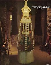 Two-Tier Hanging Table Lamp Pattern Macrame Showoffs Vintage Craft Book
