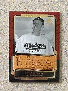 2003 SP LEGENDARY CUTS ETCHED IN TIME GOLD #ET-LD LEO DUROCHER /400