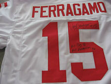 Nebraska Corn Huskers Vince Ferragamo signed Jersey W/COA Big 8 All American in