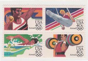 (K565-261) 1983 USA 40c 4block Airmail Olympics stamp MUH (JK)
