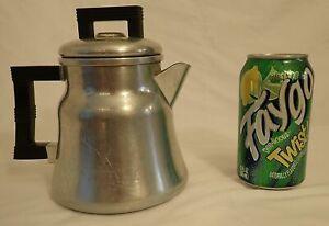 Wear Ever  Coffee Pot Aluminum Percolator Vintage  4 Cup 3004