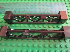 Lego Technic Construction 2 x Bridge Support 2 x 2 x 10 Girder Triangular BLACK