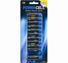 11 AA Powercell Batteries Heavy Duty Mercury Free LR6 1.5V Professional Pencil