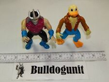 1989 Ace Duck 1990 Slice N Dice Shredder Figure Lot Teenage Mutant Ninja Turtles