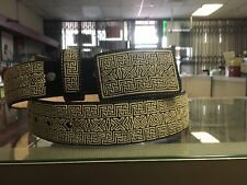 Mens  Piteado Belt Hand Made Charro Cowboy