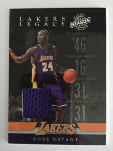 2009-10 Panini Season Update Lakers Legacy Jerseys Kobe Bryant #1