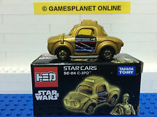 NEW TAKARA TOMY - STAR WARS CARS C-3PO DROID SC-04 - DIECAST TOY - AUST SELLER