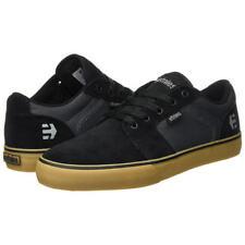 Etnies Barge LS Mens Black Blue Grey Suede Leather Trainers Skate Shoes Size UK