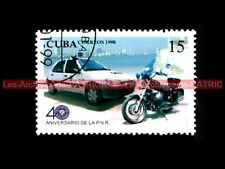 MOTO GUZZI 750 Nevada - PEUGEOT 106 - Police  Moto Timbre Postage Stamp