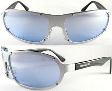 Stylish MOMO Design Uomo/Gents SUNGLASSES 7502, Pure Titanium, Silver/Black/Blue