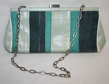 Kenneth Cole Womens Ladies Leather Light Green Teal Clutch Purse Handbag