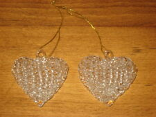 2 Spun Glass Hearts