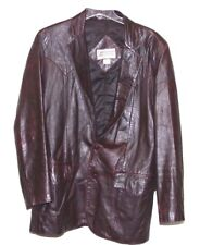 Vintage Continental Leather Fashions Lamb Skin Leather Jacket Men's Size 40