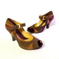 Women's Mary Janes Croft & Barrow Nicolette Peep-Toe Size 7.5