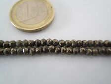 1 filo lungo 34,5 cm in pietra dura  pirite naturale  misure 3,50 x 2,5 mm