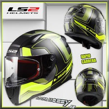 CASCO MOTO INTEGRALE TOURING LS2 FF353 RAPID CARRERA NERO GIALLO FLU TG XL 61-62