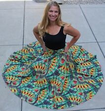"""1950's True Vintage """"circle"""" skirt-Rockabilly! Colorful cotton! Great condition!"""