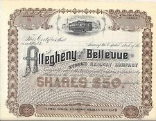 ALLEGHENY AND BELLEVUE STREET RAILWAY COMPANY (PITTSBURGH PA) ...UNISSUED STOCK