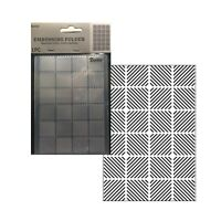 Diagonal Pattern Embossing Folder Darice Folders 30041279 Square Tile Stitched