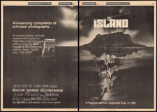 THE ISLAND__Orig. 1979 Trade AD promo_poster__PETER BENCHLEY__MICHAEL CAINE_1980