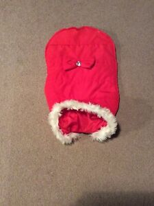 Red Bow Puffer Jacket for Dogs - size L