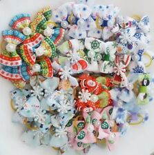 Pet Dog Hair Bows Assorted Accessories With Rubber Bands Christmas 20pcs