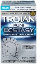 Trojan Pure Ecstasy Lubricated Condoms. 10PK. Free Shipping.