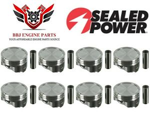 (8) SEALED POWER GM CHEVROLET GM GENIII 6.0 LQ4 NEW HYPEREUTECTIC PISTONS H857CP