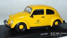 Schuco 450773900 -   Volkswagen Käfer Deutsche Bundespost, gelb  1:32