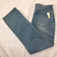 Talbots Straight Leg Jeans Womens Size 16 Light Wash Embellished Stretch Denim