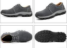 Men Gray Slip On Suede Composite Toe Work Safety Shoes Walking Welding