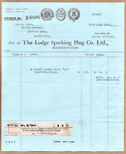 More details for 1919 the lodge sparking plug company rugby warwickshire invoice for