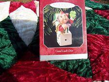 """Hallmark 1998 Keepsake Ornament """" Good Luke Dice """" Handcrafted"""