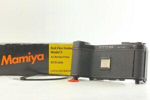 Model 3 III【N MINT  in Box w/ Cable】Mamiya Press 6x9 Roll Film Back Holder JAPAN