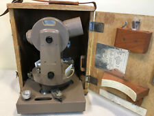 Vintage Dietzgen Transit Theodolite Model A in Wood Carrying Case Leather Handle