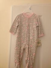 LITTLE ME BABY GIRL SLEEPER 6 MOS BROWN/PINK COTTON NEW WITH TAG