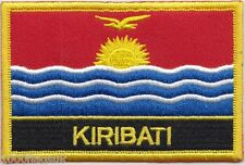 Kiribati Flag Embroidered Patch Badge - Sew or Iron on