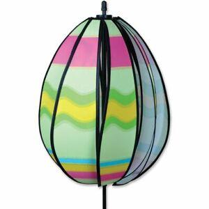 Wavy Green Easter Egg Wind Spinner Colorful Premier Windspinner