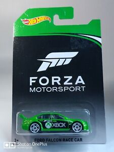 2017 Hot Wheels Xbox Forza Motorsport Ford Falcon Race Car Chase Car Green ©L