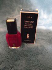 Avon Color Last Nail Enamel Polish in Pretty Red Purple NOS