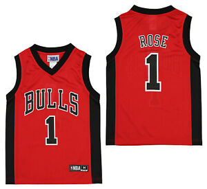 Outerstuff NBA Youth Boys Chicago Bulls Derrick Rose #1 Player Jersey, Red