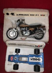 POLISTIL MOTO MOTORBIKE RARE VINTAGE KAWASAKI 900 Z1  E LOTUS TURBO INDIANAPOLIS