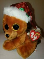 Ty Beanie Boos - HOWLIDAYS the Christmas Dog (6 Inch)(UK Exclusive) NEW MWMT