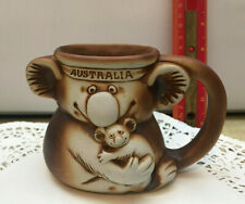 Vintage Swagman Art Studio Pottery Aussie Bunch Mug - 3D Australian Animals