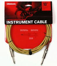 D'Addario Braided Instrument Cable Tweed 10 feet PW-BG-10TW