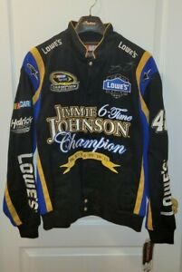 JH Design Original Autographed JIMMIE JOHNSON #48 NASCAR Racing Jacket L NWT