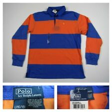 Polo Ralph Lauren Long Sleeve Colorblock Pony Boys Rugby Shirt Large (16-18) New